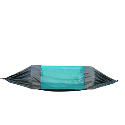 Outdoor Camping Hammock Nylon Material Enclose Style Parachute Cloth Anti-Mosquito Bed Net Ultraviolet-proof High-bearing for Two Peoples Hammock