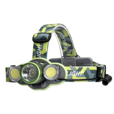 Waterproof Ultra Bright LED Headlamp with 5 Modes, COB, USB Charge, Ideal Headlight for Outdoor, Comfortable for Fishing, Camping, Biking, Hiking