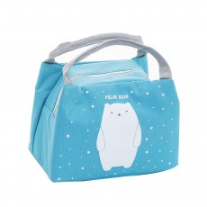 Cartoon Insulated Lunch Bag with Zipper, Small Size Cooler Bag Lunch Container for Outdoor Activities, School, Students, Children, Waterproof Lunch Tote Bag