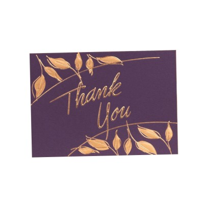 Thank-you Card for Business Purpose Birthday Card Christmas Card Retro Style New Year Card High Art Gold Blocking Thank-you Card