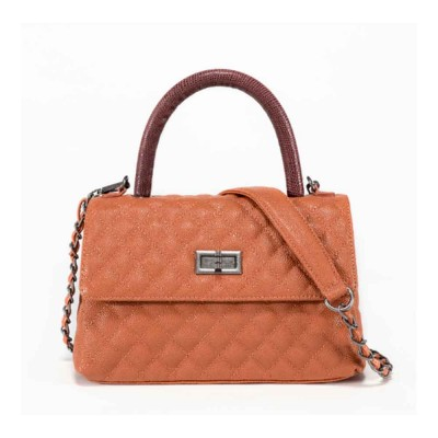 Aristocratic Trend Women's Bag, Top Layer Cowhide Caviar Pattern Shoulder Diagonal Bag