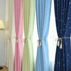 Star Hot Silver Curtain, Multicolor Curtains for Hotel Engineering, Living Room, Bedroom, High-quality Flannel Curtain