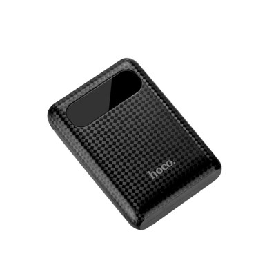 Exquisite Mini Pocket Carbon Fiber Plaids External Battery Fireproof ABS Charger Dual USB Power Bank for Cell Phone 10000mAh with LED Lamp