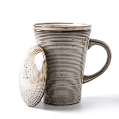 Ceramic Mug Cup with Filter Steepe Ideal for Office, Home, Glazed Mug Cup with Lid for Tea, Coffee, Porcelain Water Mug Cup 330ml