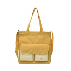 Literary Small Fresh Style Thickened Canvas Shoulder Bag, Fashion Female Student Messenger Bag