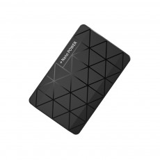 Chic Geometric Black White Ultra-thin 5000mAh Portable External Battery Charger USB Socket Power Bank for Cell Phone