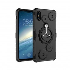 Annual Ring Pattern Phone Case, Multifunctional Phone Case with Ring Bracket, Case Cover with Holder, 360°Full Protection for iPhone