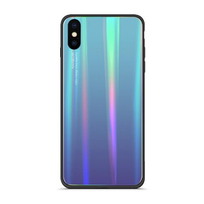 Aurora Gradient Phone Case, Toughened Glass Mobile Phone Case, Case Cover with Soft Edge, Minimalist Phone Case for iPhone