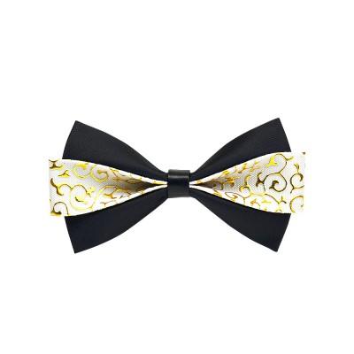 Bow Tie of PU Leather for Wedding Business Suit Bow Tie Fashionable British Style Elviro Tie Bridegroom Groomsman Used Bow Tie