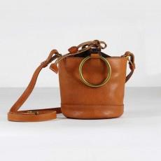Cowhide Leather Ladies Shoulder Bag, Single-shoulder Slant Straddle Bag for Shopping, Dating