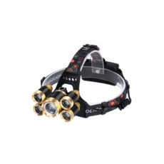 LED Lithium Battery T6 Headlights USB Charging Waterproof Lighting Zoom 5 LED Headlights For Night Ride Fishing