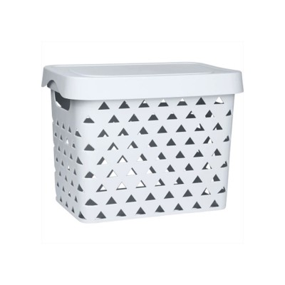 Nontoxic and Durable PP Plastic Storage Basket Multifunctional Hollowed-out Nordic Large Table Organizer With Top for Sundries, stationery and Clothes