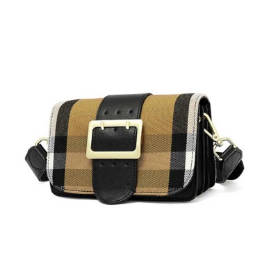 High-quality Leather Crossbody Bag, New Fashion Plaid Leather Cow Bag with Adjustable Shoulder Strap Crossbody Women Bag