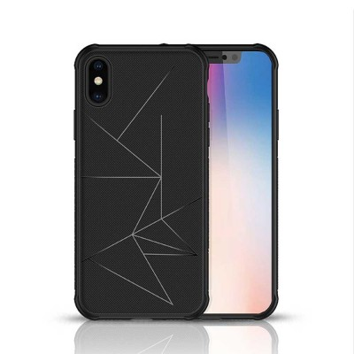 Geometric Scheme Phone Case, Magnetic Car Holder TPU Phone Case, Four-angle Thicken Protection, Minimalist Phone Case for iPhone and Samsung