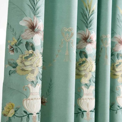 Modern Minimalist Curtains, Household Blackout Curtains for Living Room, Bedroom Chenille Floor Window Curtains