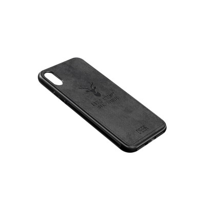 Elk Creative Silicone Phone Case, Creative Case Cover, Characteristic Linen Grain, Soft Silicone Case Cover, Apply for iPhone