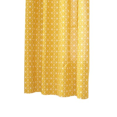 Yellow Checkerboard Plaid Half Shade Small Curtain, Nordic Curtains for Living Room, Bedroom, Cotton and Linen Printing Curtain