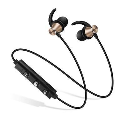 Professional Sharp Fin Wireless Ver 4.1 Bluetooth Earphone Headphones In-ear Neckband Headset Sports Supplies For iPhone Samsung