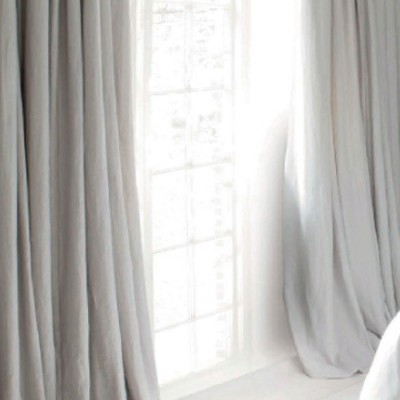Modern Retro American Style Grey Curtains, Blackout Curtains for Bedroom  Living Room, Light Luxury Velvet Curtains
