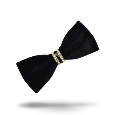 Velvet Diamante Bow Tie for Bridegroom Wedding Business Suit Bow Tie Fashionable Elviro Tie Groomsman Used Brand Diamante Tie