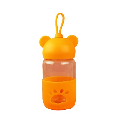 Cute Glass Water Bottle for Children, Kids, Students, Drinking Bottle for Couples