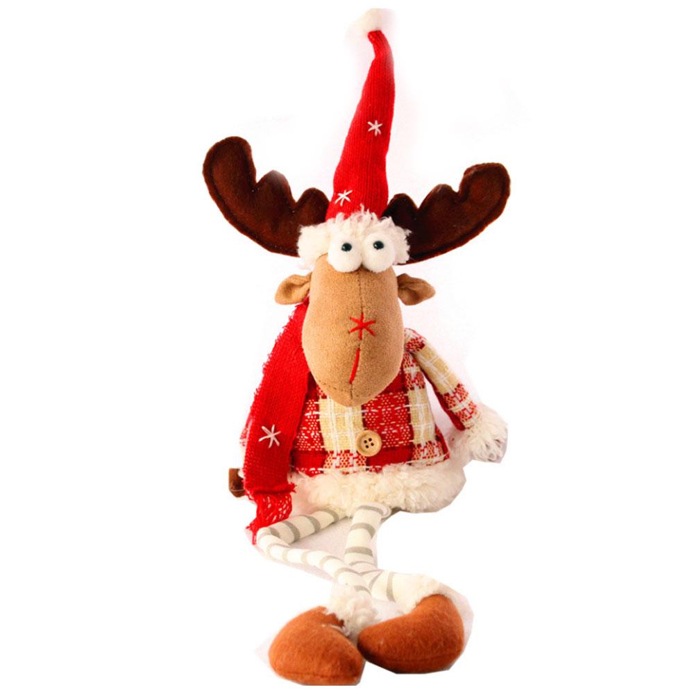 Christmas Decorations Elk Ornaments Christmas Fabric Sitting Posture Dolls Christmas Creative Toys