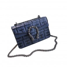 Embossed Pattern Shoulder Bag, Diagonal Bag for Female, with Textured Fabric and Embossed Pattern 2019