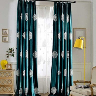 Fresh Dark Green Curtains, Blackout Curtains for Living Room, Bedroom,  Italian Flannel Blackout Curtains