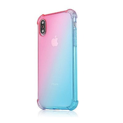 Gradient Phone Case, Ultrathin Soft TPU Case Cover with Bumper, Four-angle Gel Case Protection, Minimalist Phone Case for iPhone