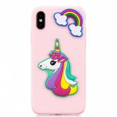 Ultra Soft Silicone Phone Case, 3D Stereoscopic Patch Case Cover, Thin Cute Cartoon Phone Case, Plastic Case Cover for iPhone