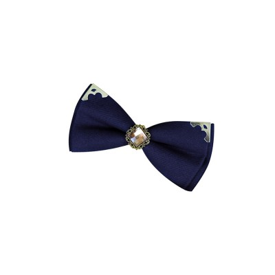 Korean Style Bow Tie for Male Fashionable Man-used Wrap Angle Bow Tie for Bridegroom Groomsman Classic Gem Bow Tie