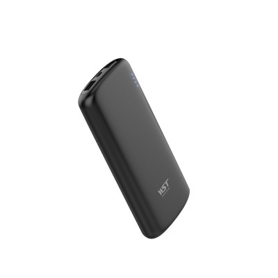 Business Solid Black White Power Bank Portable External Battery Slim Charger Fast Charging for Cell Phone 10000mAh