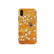 Minimalist Oil Painting Phone Case, Luxury Soft Sheep Case Cover for iPhone, Fresh Literary Style Total Binding TPU Case Cover