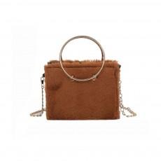 Fashion Ladies Crossbody Bag, Selected Plush Handbag, with Single Shoulder Rope and Handle Design