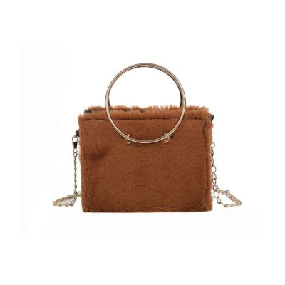 Fashion Ladies Crossbody Bag, Selected Plush Handbag, with Single Shoulder Rope and Handle Design