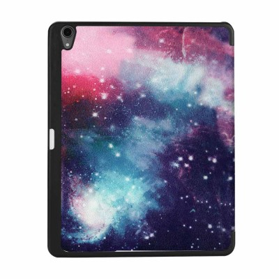 iPad Pro 11 Inch 2018 Triple Protection Case, Ultra-thin Leather iPad Cover Case with Pencil Slot, Triple Fold Auto Sleep Wake Up Function Protective Case