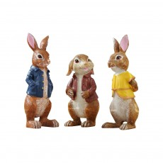A Family of Three Rabbits with Bright Color & Cute Face Expression for Crafts, Couple Gifts Rabbit Creative Decorations, Birthday Gifts