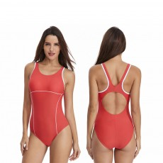 Bathing Suit Bikini for Women Europe and America Style Fashion Conservative Slim Fit One Piece Swimwear 2019 New
