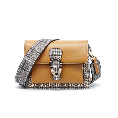 Contrast Color Small Square Bag, Fashion Handbag Shoulder Slung Bag for Female, Summer 2019