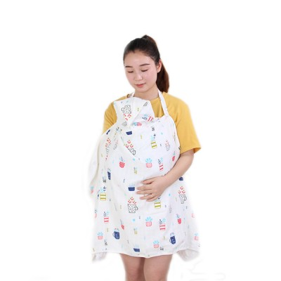 Breast Feeding Towel with Removable Fastening Belt & Fastening Button Tight Edge Breast Cape