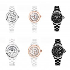 Genuine White Ceramic Band Quartz Watch for Women Fashion Luminous Waterproof 30m Imported Movement Couple Wristwatch