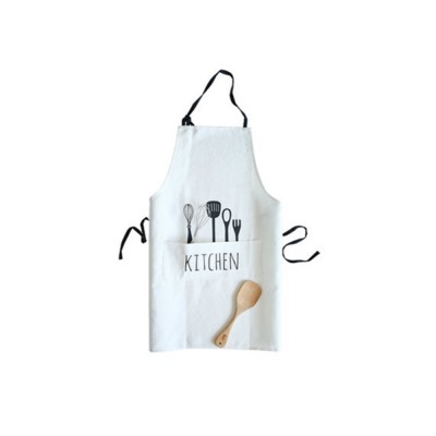 Creative Cotton Cutlery Pattern Apron with Adjustable 3 Pockets Design for Professional for BBQ, Baking, Cooking for Men & Women