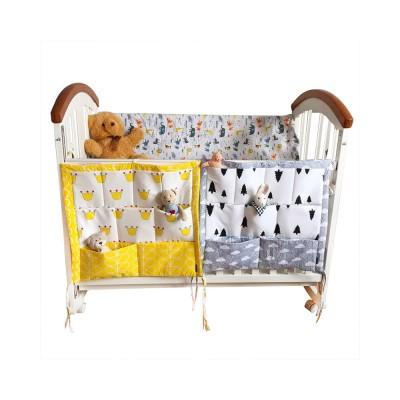 Multi-layer Cotton Cot Storage Bag Cartoon Multi-function Bed Baby Diaper Storage Bag