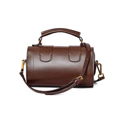 Women's Shoulder Bag Leather Handbag with Hardware Adjusting Buckle Holding Cards, Cash, Coins Crossbody Bag