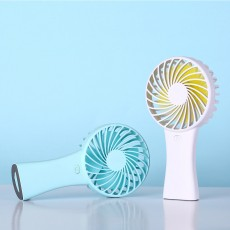 Silent USB Mini Fan with Large Capacity Outdoor Hand Held Charging Portable Mini Fan with Hang Rope Hole