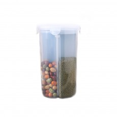 Multi-purpose Storage Convenient Transparent Four-compartment Sealed Grain Jar with Grid Classification Design