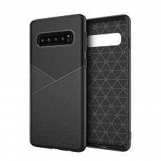 For Samsung S10 Mobile Phone Soft Shell Business Leather TPU Protective Case S10 plus All-Inclusive S10 lite Anti-Fall Protection Back Cover