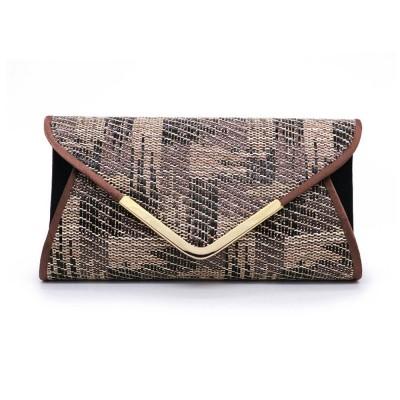 Weave Evening Purse for Woman, Fashionable Hand Clutch Bag, Diamond-shape Handbag for Party, Banquet Chain Bag Shoulder Bag