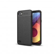 Mobile Phone Case with Network Cooling Design, Lychee Leather strip-proof TPU All-inclusive Soft Shell for LG Q6 &V30