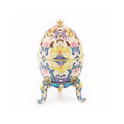 Diamond-inlaid Large-sized Colored Eggs for Jewelry Boxes, Luxury Ornaments, Metal Crafts Gifts